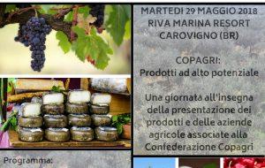 """Domani a Carovigno """"Copagri: prodotti ad alto potenziale. #ParolaAiProduttori"""""""