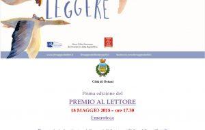 """Al via la Prima Edizione del """"Premio al lettore"""", ideato e promosso dalla Biblioteca comunale"""