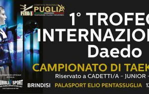 300 atleti da tutta Europa a Brindisi per il 1° Trofeo Internazionale Daedo 2018 di Taekwondo