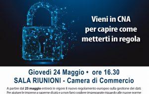 Novità sulla Privacy: oggi incontro tecnico organizzato dalla CNA