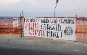CasaPound protesta conto i ritardi nei lavori di Cala Materdomini