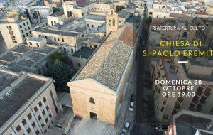 Domenica  28 riapre la Chiesa di San Paolo Eremita