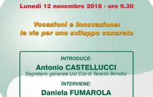 Vocazioni e innovazione: le vie per uno sviluppo concreto. Lunedì a Cellino Consiglio Generale Cisl