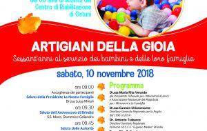 """Il 10 novembre Convegno celebrativo dei 60 anni di attività del Centro di Riabilitazione """"La Nostra Famiglia"""" di Ostuni"""