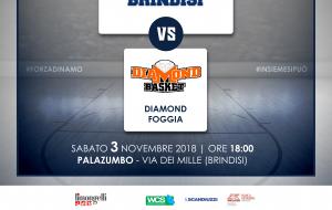 Sabato la Dinamo Brindisi ospita la Diamond Foggia