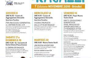 Ragazzi riuniti in assemblea creativa a Brindisi: proposte, idee e visioni sulla città da condividere con gli amministratori