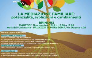 La Mediazione Familiare: potenzialità, evoluzioni e cambiamenti: se ne parla il 20 Novembre a Brindisi