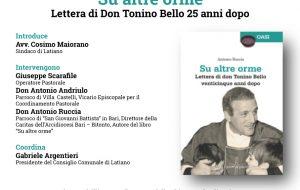 """Giovedì 6 a Latiano si presenta il libro """"Su altre orme – lettera di don Tonino Bello venticinque anni dop"""""""