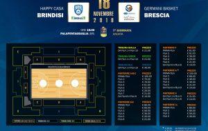 Aperta la prevendita per New Basket Brindisi-Brescia