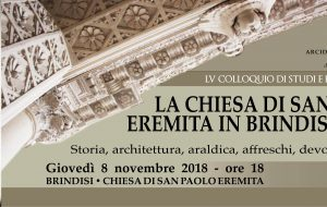 Giovedì 8 convegno sulla chiesa di San Paolo Eremita in Brindisi