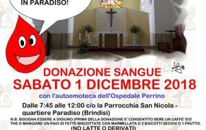 Sabato 1 donazione di sangue alla Parrocchia del Quartiere Paradiso