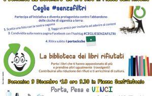"""Domani a Ceglie """"La biblioteca dei libri rifiutati"""" e """"Ceglie #senzafiltri"""""""