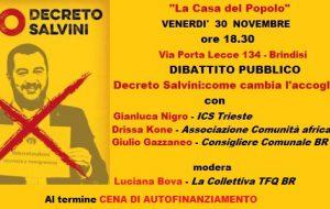 Decreto Sicurezza, come cambia l'accoglienza? Se ne parla venerdì 30 alla Casa del Popolo di Brindisi