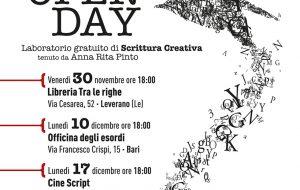 L'Open Day di Cine Script nelle province di Bari, Brindisi e Lecce