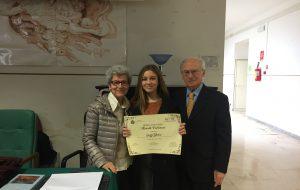 Ylenia Leuzzi vince la Borsa di Studio intitolata a Marcello Palmisano