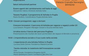 """Domani a Brindisi si presenta il progetto """"Tessere Pugliesi"""" di Ashoka, la più grande rete globale di imprenditori sociali"""