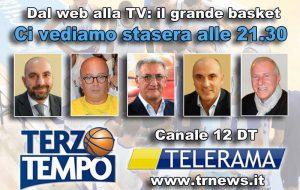 Stasera su TeleRama torna Terzo tempo: ospiti Errico, Pesari e Campagnoli