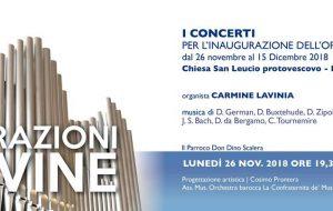 Vibrazioni Divine: quattro concerti per inaugurare l'organo a canne della chiesa S Leucio (Minnuta)