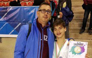 Il giovanissimo brindisino Yuri Elia conquista la medaglia d'oro ai Campionati Italiani Cinture Rosse Taekwondo