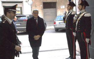 Il Prefetto Valenti in visita al Comando Provinciale Carabinieri di Brindisi