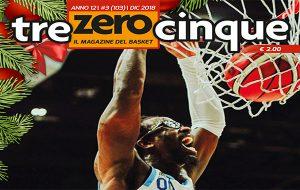 Trezerocinque: in edicola da mercoledì 19 il numero di dicembre del magazine di basket
