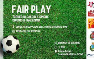 """Domani a San Pancrazio """"Fair play"""", il 1° Torneo Antirazzista"""