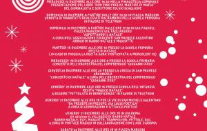 Cartellone degli eventi natalizi 2018 a San Michele Salentino