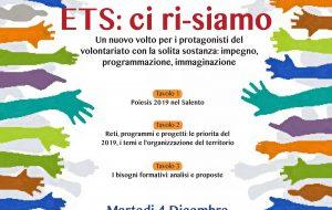 Meeting del Volontariato: Martedì 4 Dicembre il CSV riunisce le Associazioni a Brindisi