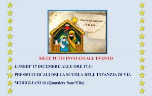 Oggi come ieri: lunedì 17 si inaugura il presepe della Scuola d'Infanzia Modigliani