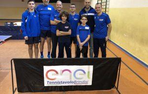 """TennisTavolo Brindisi: vittoria e """"campione d'inverno"""" in C/2 e vittoria in D/2"""