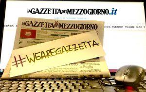 """Macchia (CGIL): """"non spegniamo 130 anni di storia de La Gazzetta del Mezzogiorno"""""""