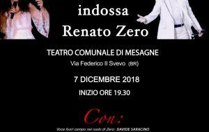 D'aria e di musica – Cinzia Fronda indossa Renato Zero al Teatro Comunale di Mesagne