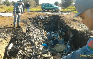Sequestrata discarica abusiva di cavi di rame in Contrada Formica