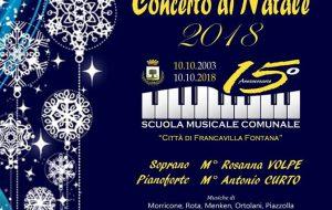 Scuola Musicale Comunale di Francavilla Fontana: due concerti di Natale in programma a Brindisi