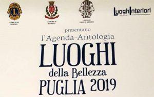 """Il Lions Club di Brindisi presenta l'Agenda-Antologia """"Luoghi della Bellezza"""""""