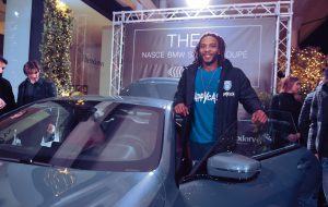 I giocatori della Happy Casa Brindisi presenti all'evento BMW Emmeauto 'The 8'
