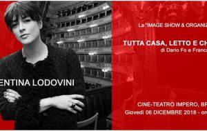 """""""Tutta Casa, Letto e Chiesa: il 6 Dicembre Valentina Lodovini al Teatro Impero"""