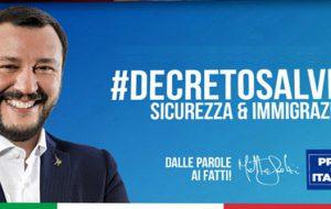 Lega-Salvini Premier in Piazza a Brindisi a sostegno del Decreto Salvini