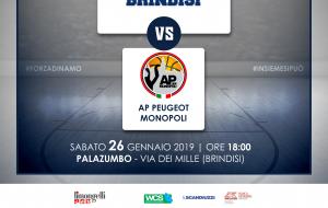 Sabato 26 alle 18.00 c'è Dinamo Brindisi-Monopoli