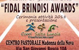 """Sabato 26 appuntamento con il """"Fidal Brindisi Awards"""""""