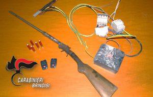 Ai domiciliari con pallottole e fucile con matricola abrasa: torna in carcere 72enne