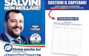 La Lega in Piazza anche a Brindisi per chiedere di negare l'autorizzazione a procedere per Salvini