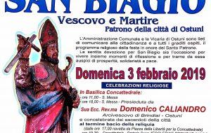 Ostuni celebra il suo santo Patrono: il programma religioso in onore di San Biagio
