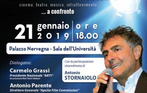 """Cultura e Spettacolo: quali prospettive professionali? Il Polo """"Messapia"""" ospita Antonio Stornaiolo"""