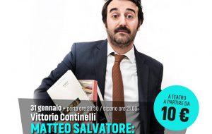 Stagione di Prosa, Vittorio Continelli in scena ad Ostuni con uno spettacolo che alterna la musica alle parole