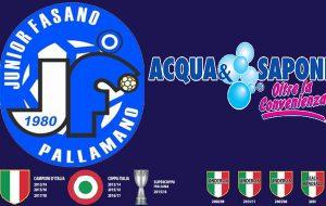 Riparte dalla trasferta di Fondi il campionato dell'Acqua & Sapone Junior Fasano