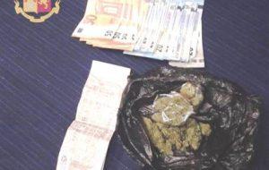 A bordo dell'intercity Milano-Taranto con la marijuana: arrestato giovane brindisino