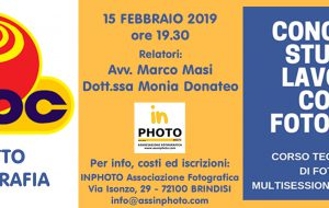 Venerdi 15 Febbraio Adoc e InPhoto parlano di diritto in fotografia
