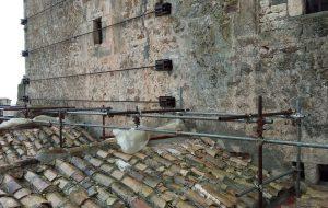 Al via l'allestimento del ponteggio e la messa in sicurezza del Castello Ducale