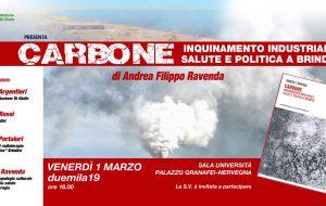 """Venerdì 1 si presenta il libro """"Carbone"""" di Andrea Ravenda"""